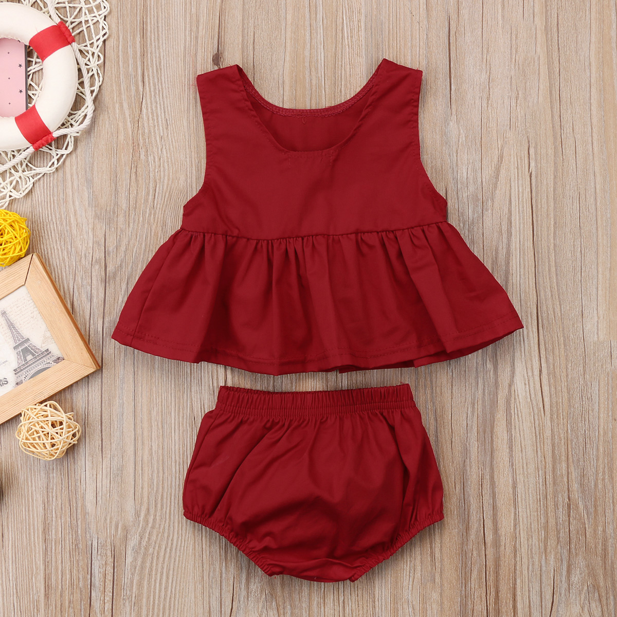 2PCs Baby Girls Clothes Crop Top Dress Tee Vest +Shorts Pants Casual Outfits Set New