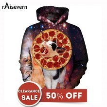 Raisevern Funny Pizza Cat 3D Print Hoodies For Men Women Long Sleeve Hooded Pullovers With Pockets Clearance Sale(China)