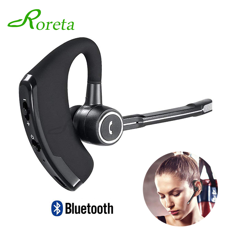 Car bluetooth Earphone Handfree with Mic Noise Canceling Headset Wireless Bluetooth Business Stereo earbuds for iPhone Xiaomi