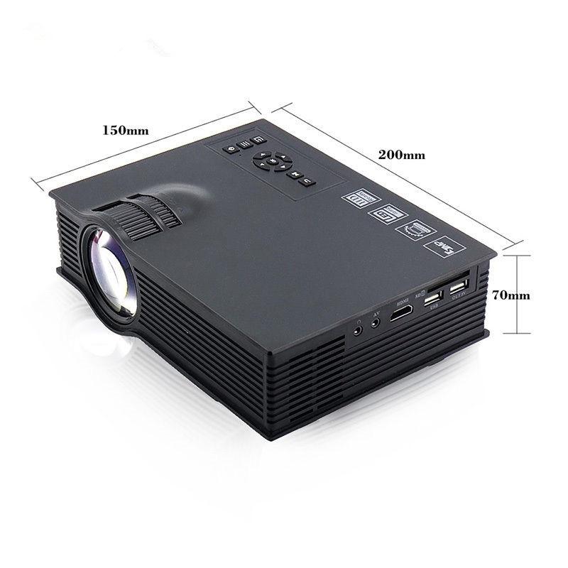 UNIC UC40 800 lumens LED Mini Projector Portable Home Cinema SD 1080P + US/EU Plug/AU Power Cable + HDMI cable + AV cable