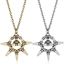 Classic Game Yu-Gi-Oh Yami Bakura Ryo Millennium Wheel Wisdom Yugioh Necklace for Women Man Pendants Necklaces(China)