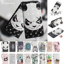 Portefeuille en cuir de luxe à rabat étui pour iphone 5 5s Se 5se Coque 3D mignon ananas Animal chat chien Panda bibliothèque support sangle Etui(China)