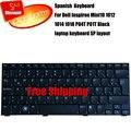 100% Новый для Dell Inspiron Mini 10 1012 1018 Черный испанский Версия клавиатура ноутбука V111502AS1 PK1309W1A06 sp клавиатура ноутбука