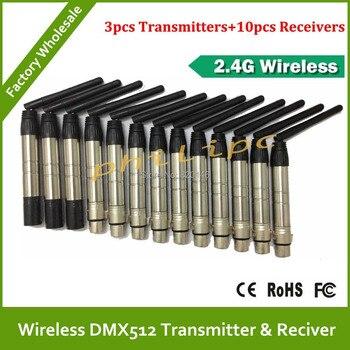 DHL/EMS miễn phí vận chuyển 2.4 GHz DMX512 không dây giao diện điều khiển DFI DMX512 không dây máy phát hoặc máy thu DMX Kit không dây