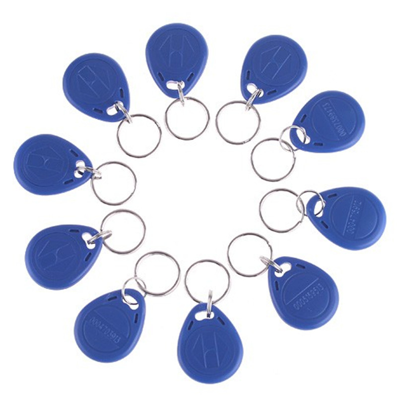 10  Pcs RFID Tag Key Fob Keyfobs Keychain Ring EM ID keyfobs RFID Tag Key Ring Card125KHZ Proximity key fobs for Access Control