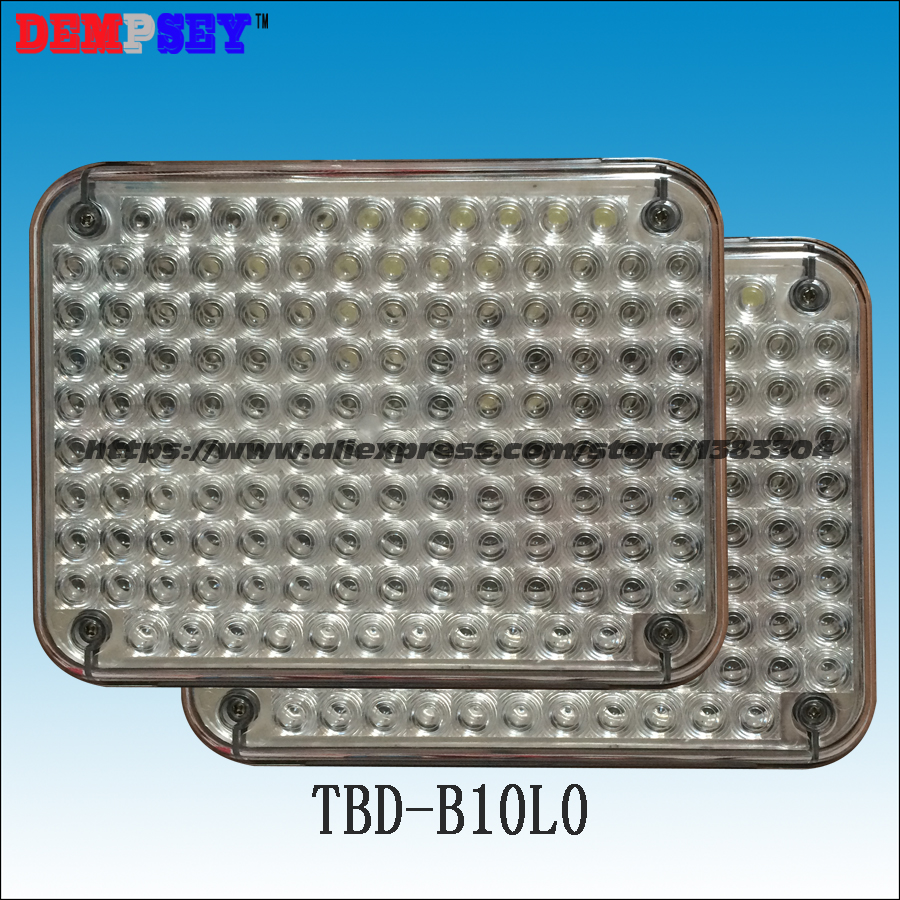 TBD-B10L0 High quality White warning lights for fire truck & police /car, surface mounting, Waterproof, DC12V or 24V, 134 LEDs a975got tbd b