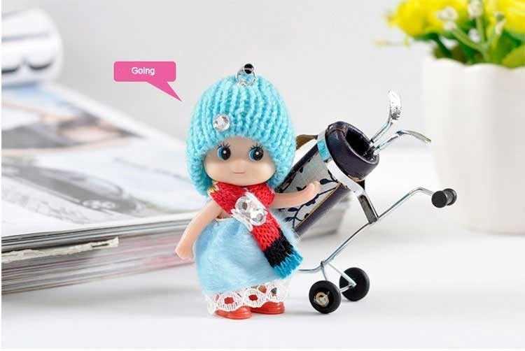 Moda bonito Crianças Plush Dolls Macio Keychain Chave Da Cadeia de Brinquedos de Pelúcia Chaveiro Mini Plush Animais Do Bebê Para Meninas Mulheres