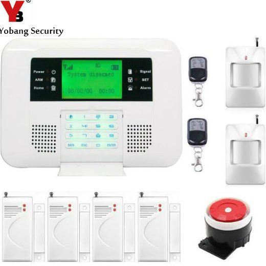где купить  YobangSecurity GSM PSTN Home Security Alarm Systems with LCD Keyboard Wireless GSM Alarm System 433MHz Door Detector PIR Sensor  дешево