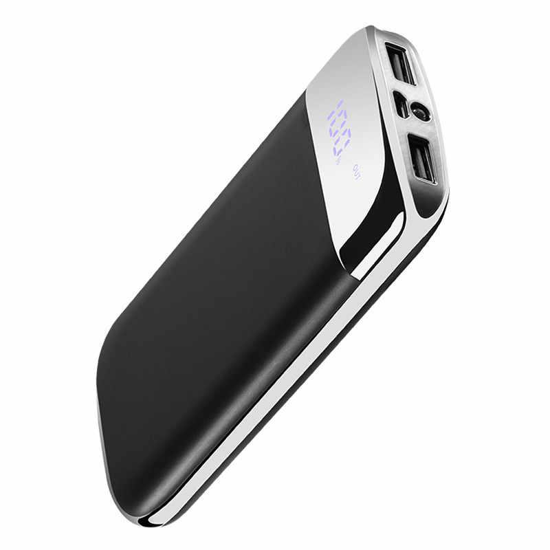 30000 mah כוח בנק חיצוני סוללה PoverBank 2 USB LCD מיני Powerbank נייד נייד טלפון מטען לxiaomi iphone סמסונג