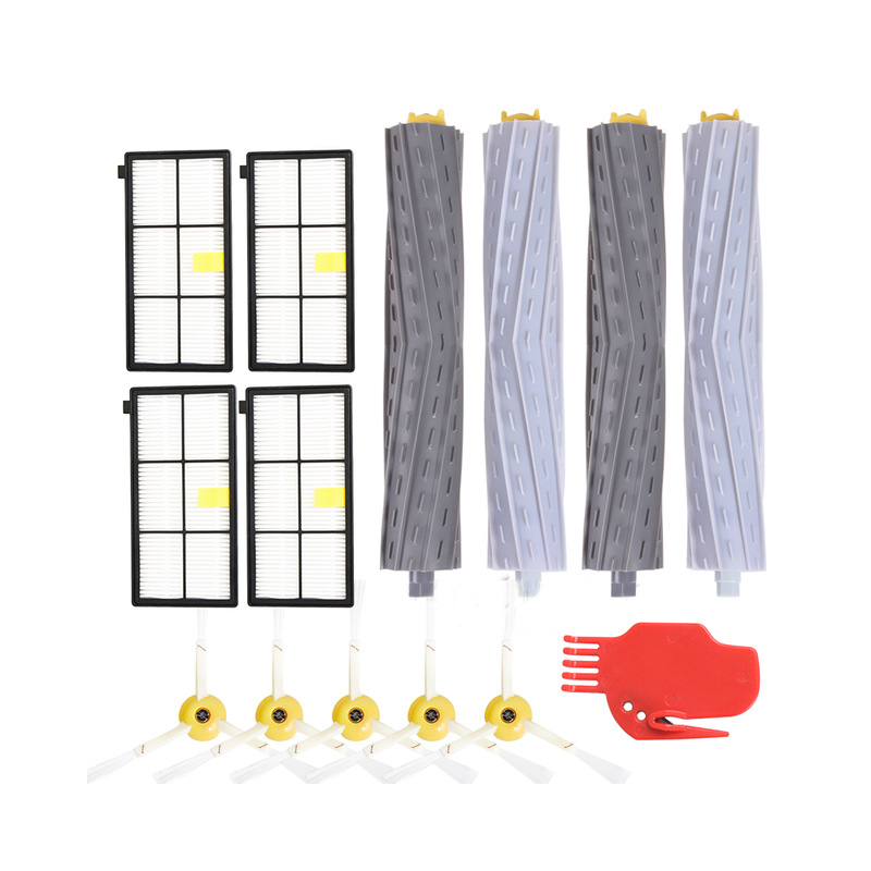 Extractor Filters Side Brush Sets for iRobot Roomba 800 900 Series 805 860 870 871 880 890 960 980 Vacuum Cleaner Spare Parts(
