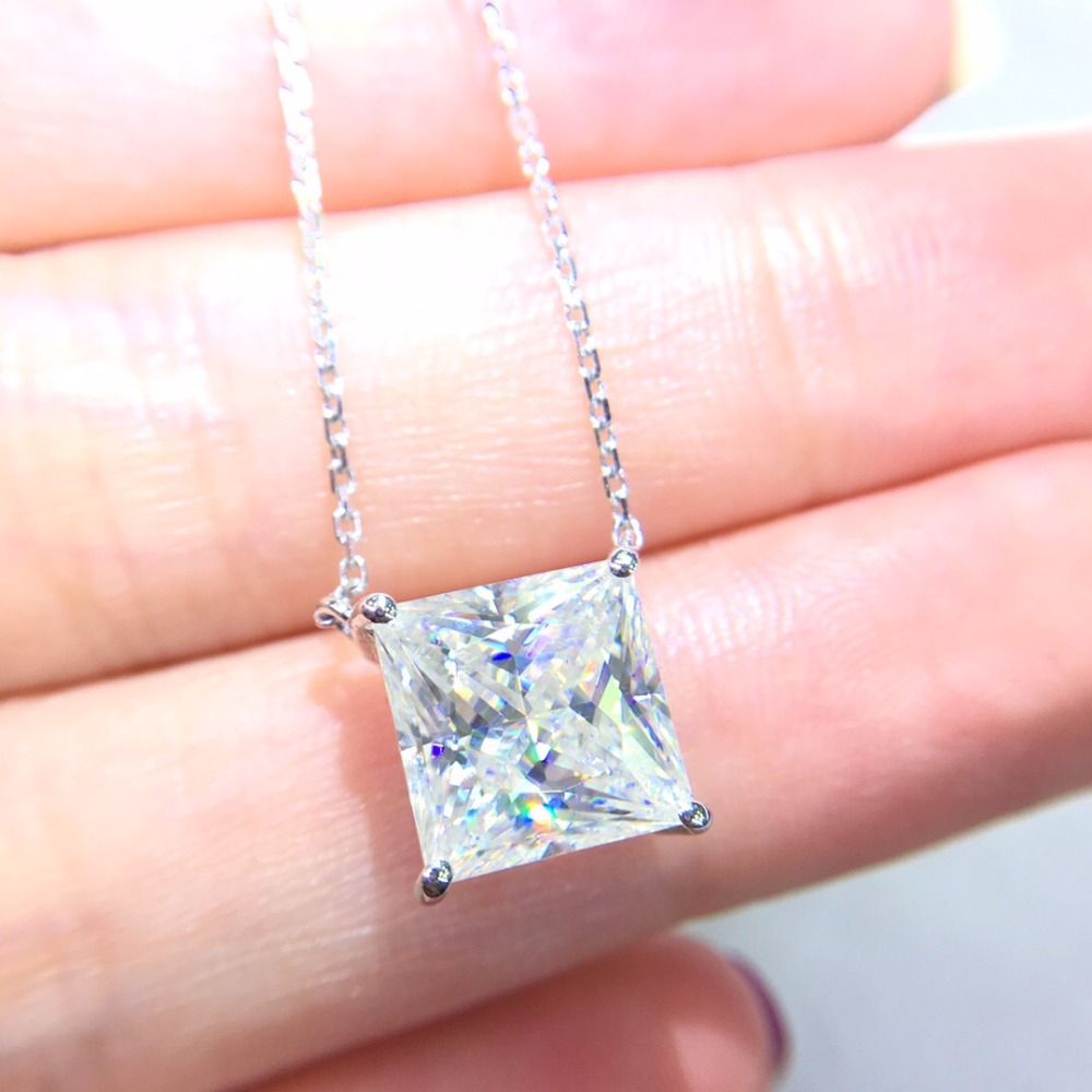 On Sale Fine Jewelry Real 18K Gold AU750 G18K 3.5ct Moissanite Diamond Pendant Gemstone Necklaces for Women