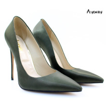 Aiyoway Elegant Women Shoes Ladies Pointed Toe High Heels Pumps Work &Career Party Green Slip-On shoes woman high heel