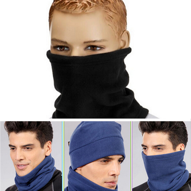 4 in 1 Winter Windproof Outdoor Sports Face Mask Ski Snowboard Hood Hat Neck Warmer Cap Camping Hiking Thermal Scarf new winter warm scarf hat mens thermal fleece hood ski bike hiking unisex winter windproof face mask beanie caps mens