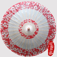 Cosplay Umbrella For Women Chinese Japanese Style Paper Umbrellas Long Handle Umbrella Decration Red Female Cosplay Props