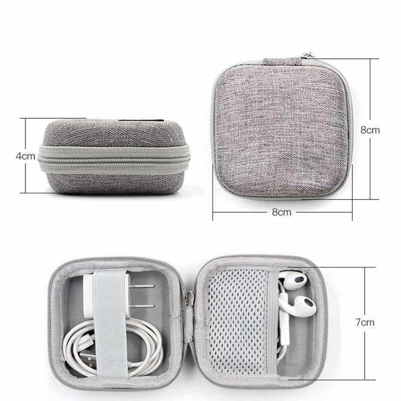 Earphone Holder Case Storage Carrying Hard Bag Box Case For Earphone Headphone Accessories Earbuds memory Card USB Cable Bag