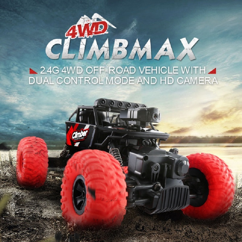 JJRC Q45 Remote Control Car 4WD RC Car with Camera Wifi FPV Real Time video 1:18 2.4G RC Racing Car Off-Road RC Climbing Car wireless charger wifi remote control car with fpv camera infrared night vision camera video toy car tanks real time video call