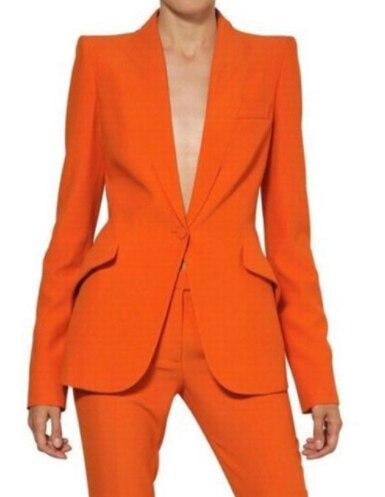 Women Pant Suits Ladies Custom Made Formal Business Office Tuxedo Jacket+Pants Suits Female Office Uniform