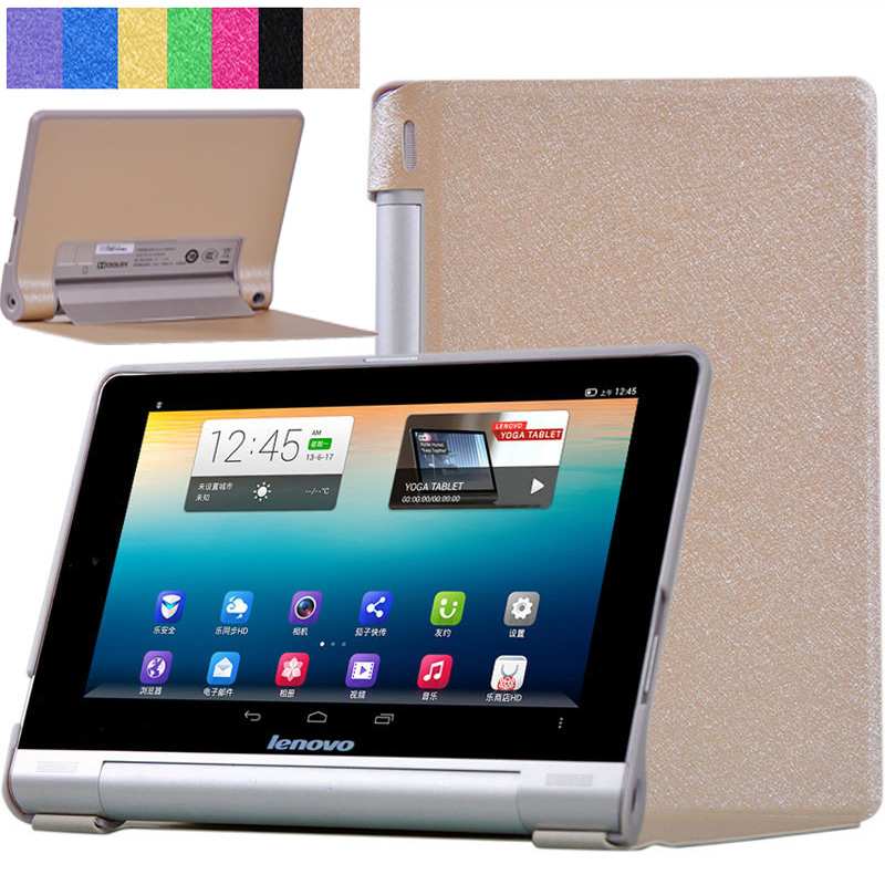 Fashion Folding Ultra Thin Flip PU Leather Stand Case Cover For Lenovo Yoga Tablet 10 B8000 B8000-f B8000-h 10.1 inch Tablet