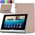 Moda Folding Flip Ultra Fino PU LEATHER Stand Case Capa para lenovo yoga tablet 10 b8000 b8000-f b8000-h 10.1 polegada Tablet