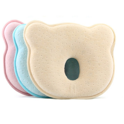 Hot Infantil Newborn Baby Pillow Baby Room Soft Infant Baby Pillow Prevent Flat Head Memory Foam Cushion Sleeping Support Multan
