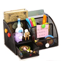 Deli 9200 8902 9154 9175 Multifunctional Pen Holders Stand Creative Fashional Office Supplies Pencil Case Storage