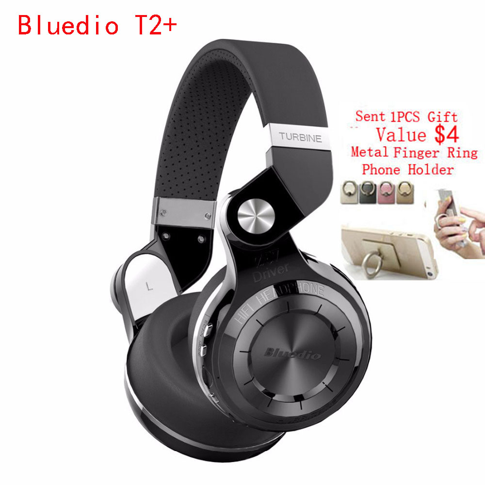 ФОТО Bluedio T2+ Foldable Wireless Stereo Bluetooth Headphones Sport Headset Auriculares Support FM Radio SD Card Functions casque