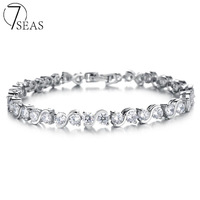 Famous Brand Jewelry With Full Genuine Austrian Crystal Charm Bracelet Bangles For Women Elegant Ladies Birthday