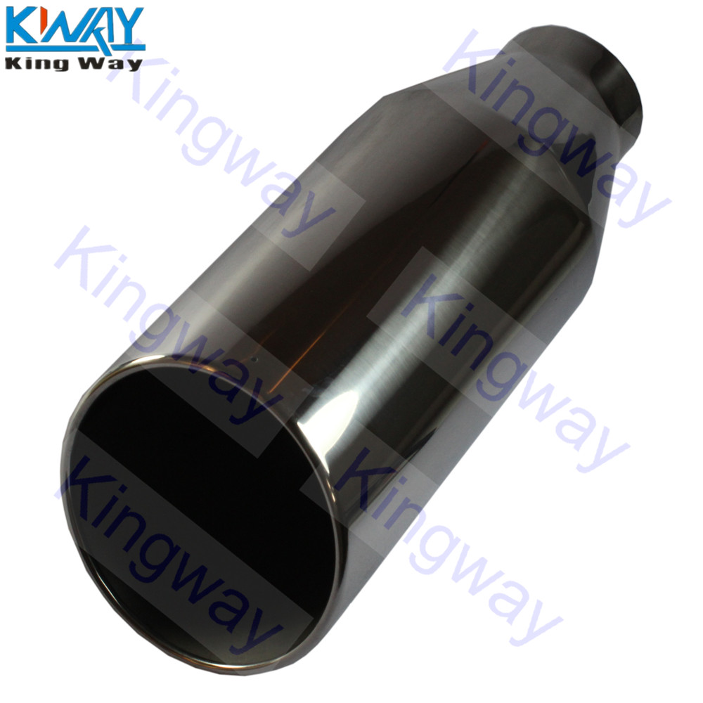 """Diesel Stainless Steel Bolt On Exhaust Tip 4/"""" Inlet 7/"""" Outlet 18/"""" Long"""