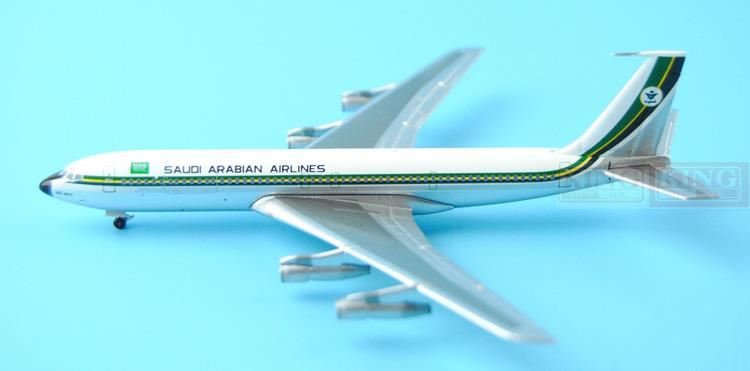 Aeroclassics Saudi aviation HZ-ACC 1:400 B707 commercial jetliners plane model hobby gjcca1366 b777 300er china international aviation b 2086 1 400 geminijets commercial jetliners plane model hobby