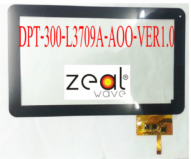 ФОТО DPT-300-L3709A-AOO-VER1.0 10.1Inch Capacitive Touch Screen Digitizer Glass Replacement for 300-L3709A  300-L3709B DPT-300-L3709A