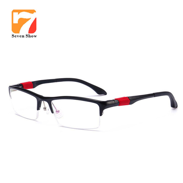 a74fc9d787 Eyeglasses Frame Men sports Computer Optical Eye Glasses Frames Male  Prescription Myopia Transparent Clear Lens Oculos