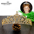 Gold /Silver Plated White  Austria Crystal Rhinestone Bridal Hair Jewelry Wedding Hair Accessories Pageant Tiaras and Crowns