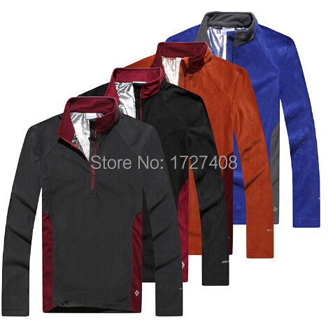 OMNI HEAT Thermal Heat Reflective Fleece Jacket Men Casual Sport Mens Outdoor Hiking Camping