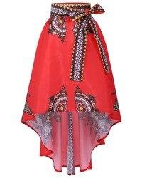 Vestido africano para as mulheres vestuário Tradicional Africano Nacional Impresso Saias Balanço Grande Saia do Tornozelo-comprimento Projeto Popular 123102