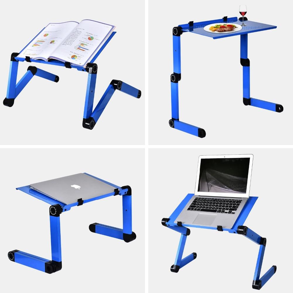 Image 5 - Actionclub портативный складной 360 градусов регулируемый стол для ноутбука компьютерный стол подставка лоток для дивана кровать стол для ноутбука с ковриком для мыши-in Компьютерные столы from Мебель on AliExpress