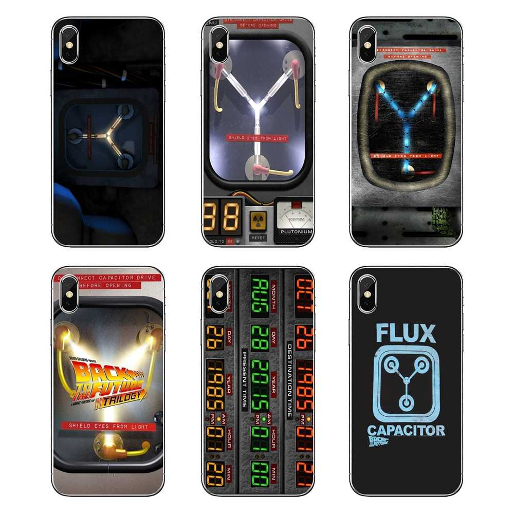 Transparent Soft Cases Covers For Huawei Honor 8 8C 8X 9 10 7A 7C Mate 10 20 Lite Pro P Smart Plus Capacitor Back To The Future