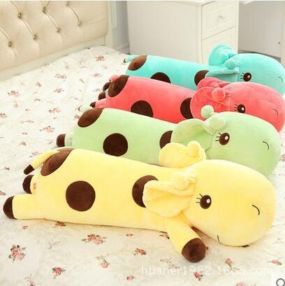 ФОТО 80cm giraffe plush kids toys stuffed animals four colors free shipping