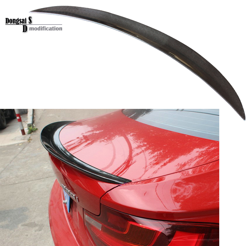 2 series coupe F22 F23 high quality Performance P style carbon fiber rear spoiler wings fits for bmw F22 2014 - 2018 220i M235i for bmw 2 series f22 f23 coupe