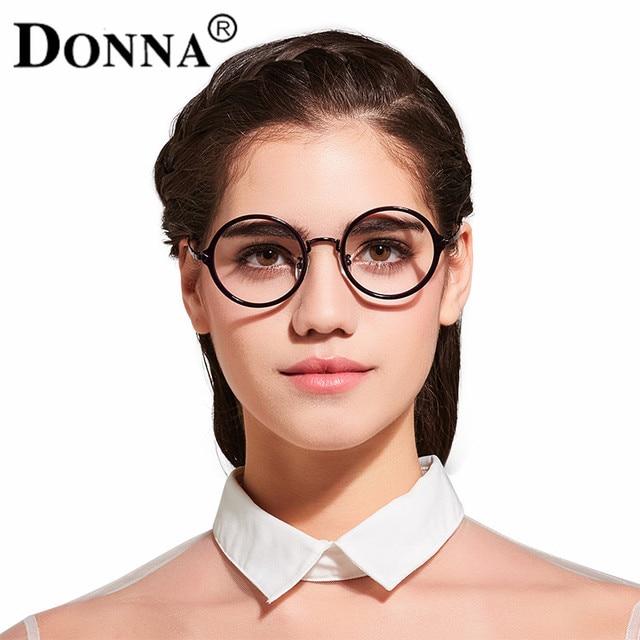 4ef8eed8b4f Donna Metal Eyeglasses Frames Women Classic Optical Eyeglasses Round Nerd Frame  Clear Lens Reading Glasses Ultra