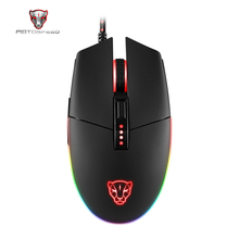 4000DPI 6 Buttons Breathing LED Optical Wired Gaming Mouse Motospeed V50 Futural Digital Drop Shipping AUGG14