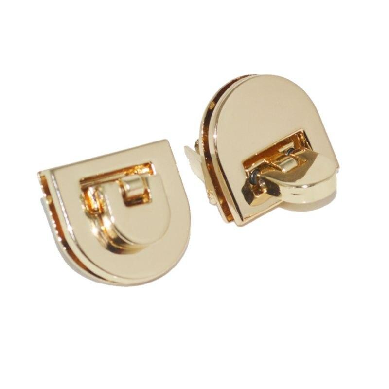 Gold Buckle Twist Lock Hardware For Shoulder Bag Shape Handbag DIY Turn Lock Bag Clasp Bag Accessories 21.5x20mm