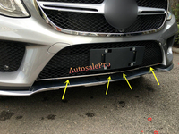 Stainless Front Bottom Grill Grid Grille Cover Trim For Mercedes Benz GLE Coupe C292 2015 2016