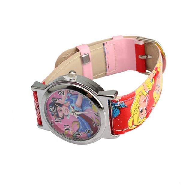 Cartoon Children Watches Cute Snow White Princess Quartz Watch With Purse Pink F