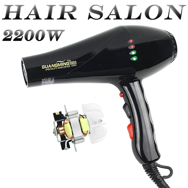 Ac motor blow dryer real power 2200w professional hair for Ac motor hair dryer