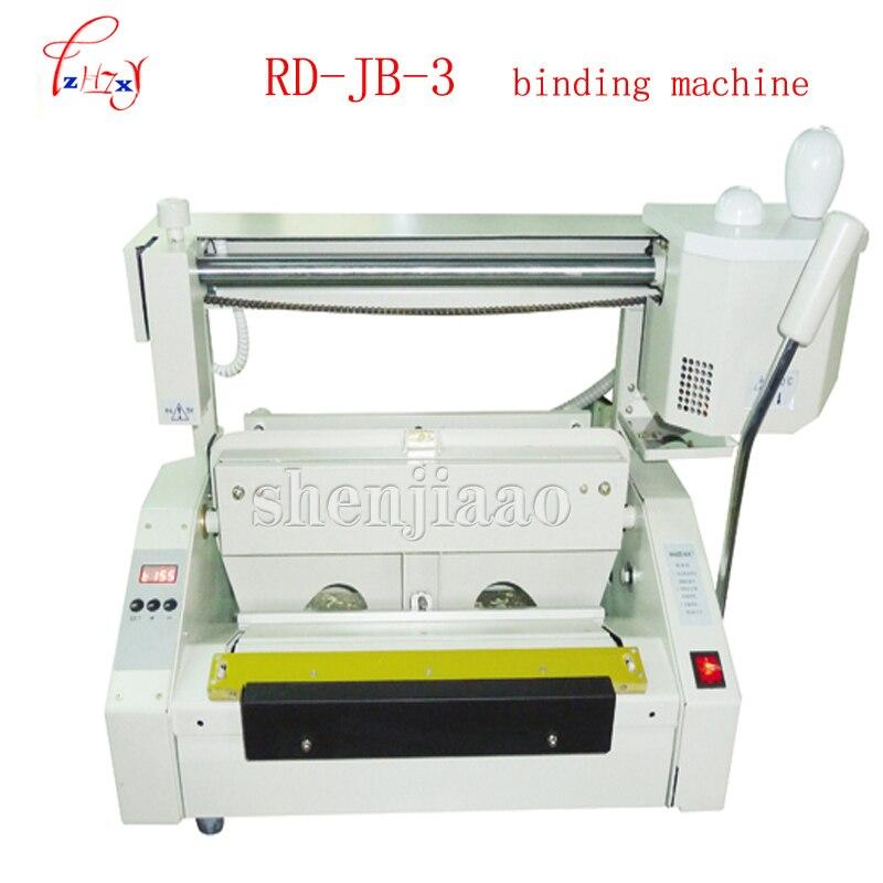 Desktop glue books binding machine glue book binder machine hot melt glue binding machine booklet maker RD-JB-3 110V/220V 1pc