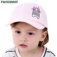Nuevos niños ocasionales del verano gorras de béisbol de dibujos animados CAT Dancing algodón visera sombreros para niñas niños gorra de béisbol del bebé niños del sol sombrero