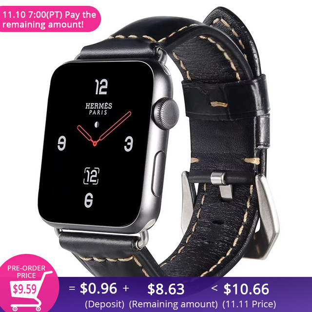 04380e4069e Retro Vintage Genuine Leather iWatch Strap Replacement for Apple Watch 42mm  Series 3 2 1 Sport and Edition iwatch band 38mm