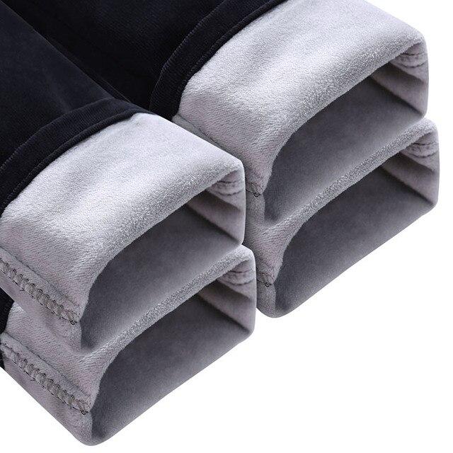 Новая зима 2017 мужская мода чистый цвет флис теплый тонкий отдых бизнес брюки/Мужской хлопок вельвет случайных брюки