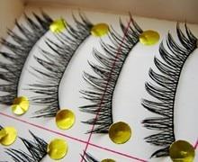 Free shipping 2014hot sale10Pairs Hand made fashion charming eye lashes False Eyelashes Natural Long Thick  Beauty Health Makeup