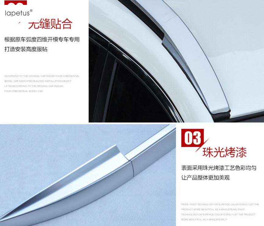 Accessories For Nissan Qashqai J11 2014 2015 2016 Exterior Up Top Roof Side Rails Rack Cargo Luggage Molding Cover Kit Trim